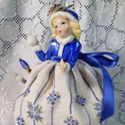 Winter – A Capodimonte Pincushion Doll