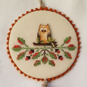 ornament with wooden owl button