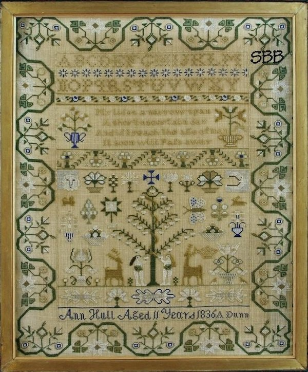 antique sampler reproduction