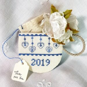embroidered blue teacup 2019