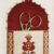 scissor case and pinkeep with red flowers and italian motifs